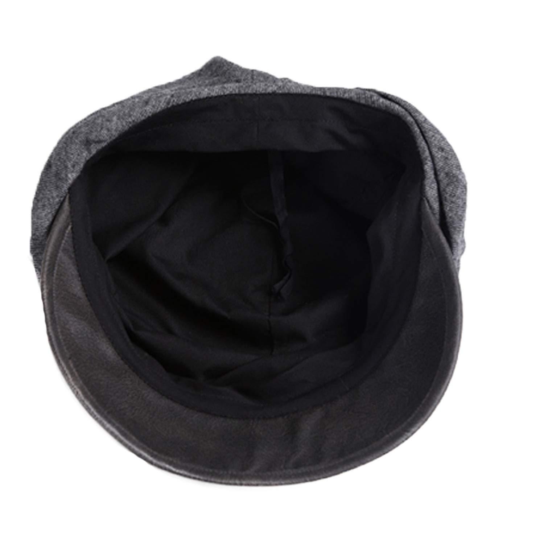 UKURO Women Cotton Visor Beret Baggy Fashion Newsboy Caps Solid Color,Denim Blue,56 to 58cm by UKURO (Image #4)