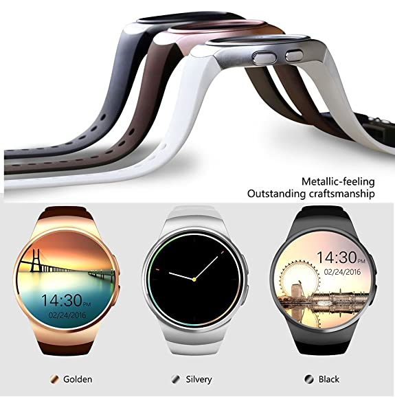 Amazon.com: Bluetooth Smart Watch KW18 1.3 inches IPS Round ...
