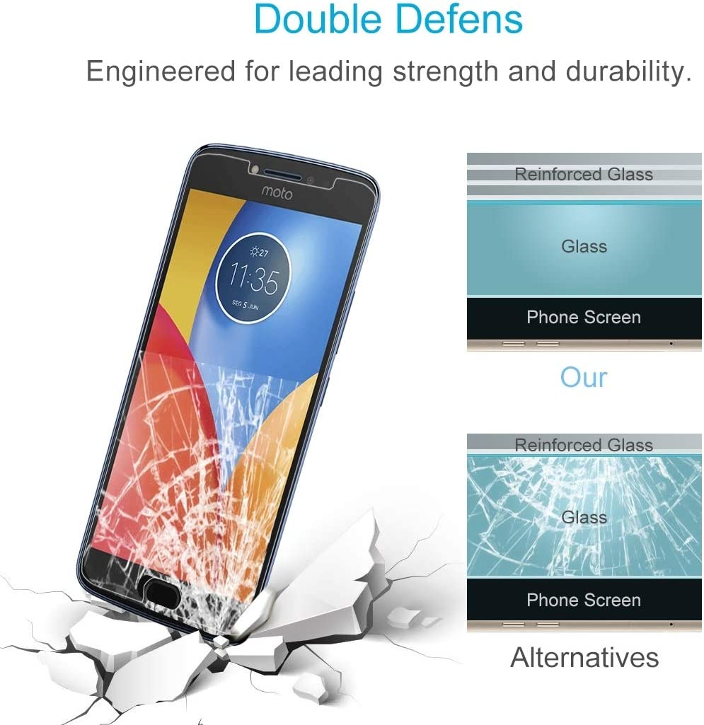 ZYS Screen Protector 100 PCS for Motorola Moto E4 0.3mm 9H Surface Hardness 2.5D Explosion-Proof Tempered Glass Non-Full Screen Film