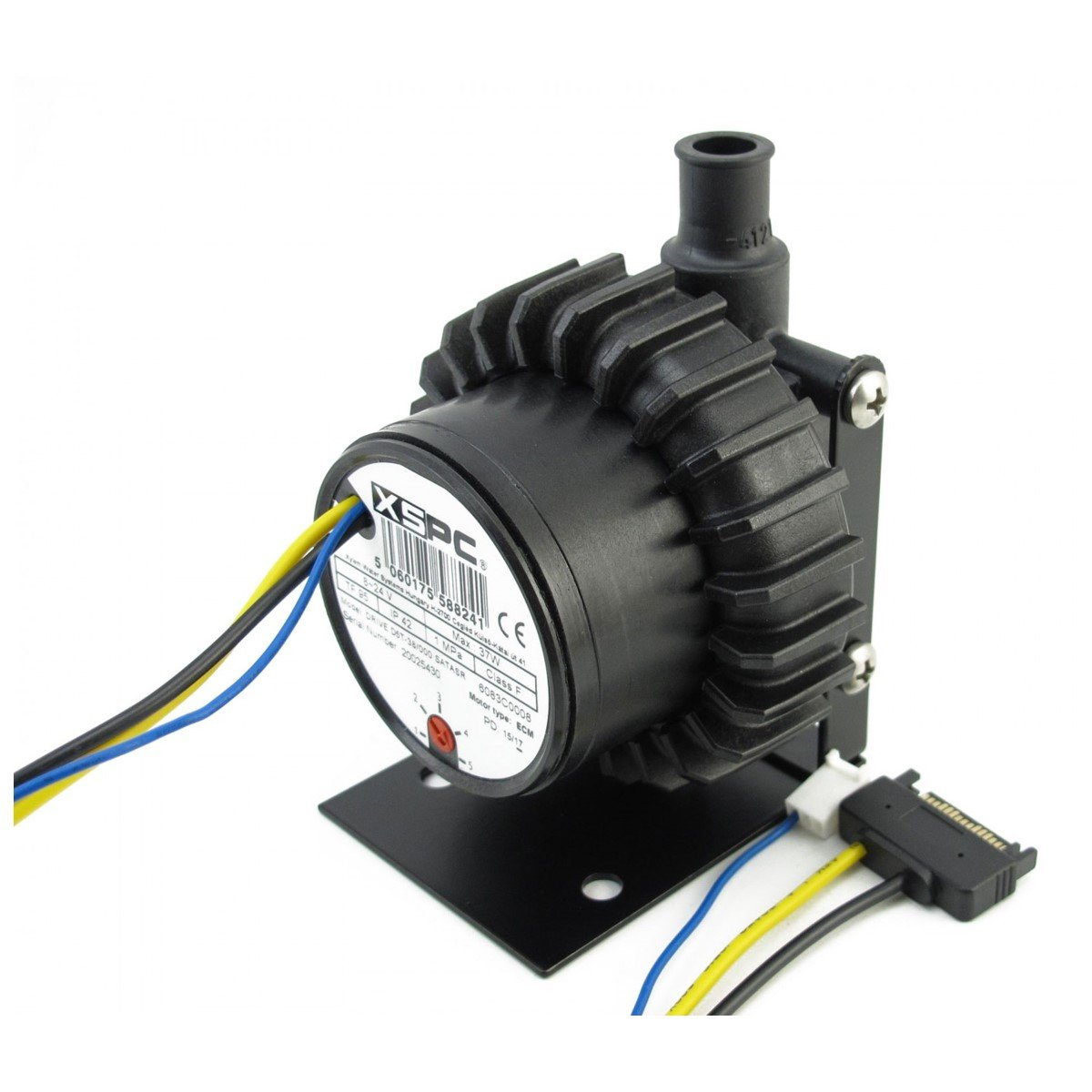 XSPC D5 Vario Pump with SATA power and Front Cover (1/2 Barbs)