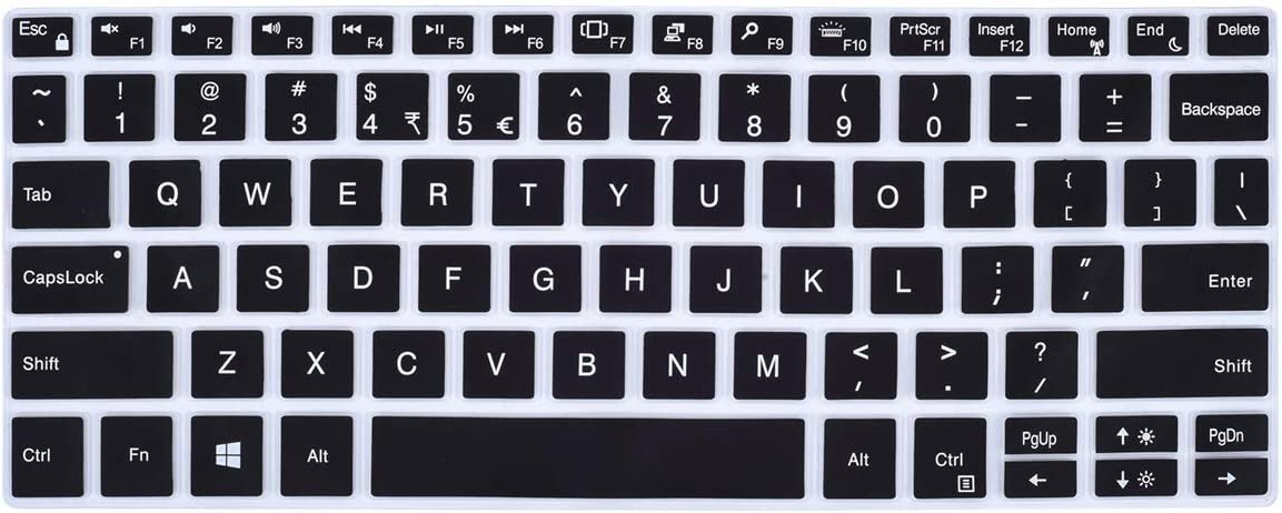 CASEDAO Keyboard Cover for DELL XPS 13 9380 2019 / DELL XPS 13 9370 9365 13.3 inch Laptop, DELL XPS 13 Laptop Keyboard Skin Protector(NOT for XPS 13 7390), Black
