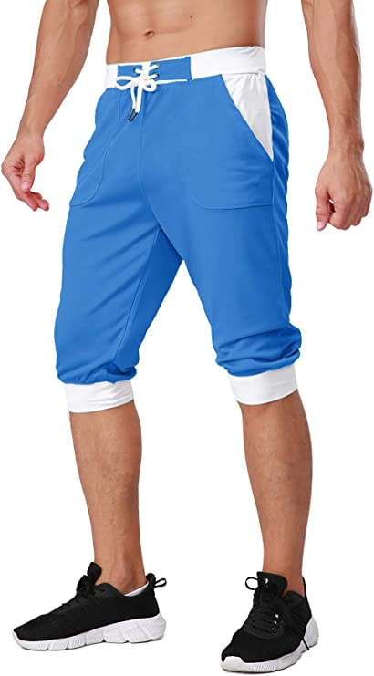 Mens Shorts Jogging Running Gym Sports Mesh Breathable Fitness Trunks Hot Pants