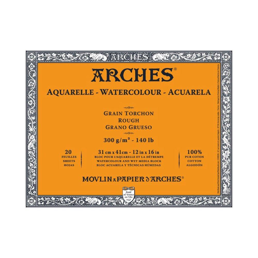 Arches Watercolor Block, Rough 12''X16''