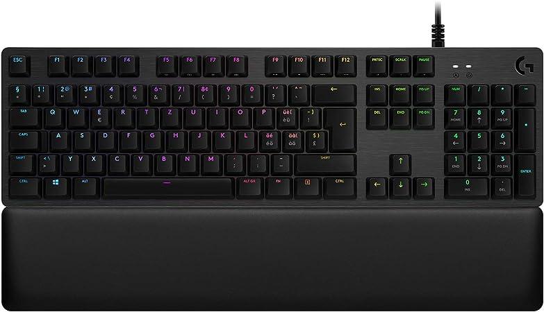 Logitech G513 Teclado Gaming Mecánico con Reposamanos, RGB ...