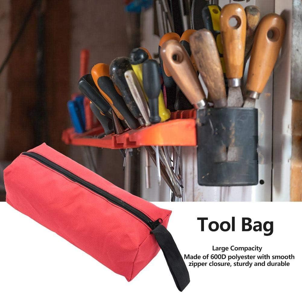 Black Bolsa de herramientas multifuncional Bolsa de herramientas con cremallera para alicates Tornillos Reparaci/ón Hardware Herramientas Caja de almacenamiento