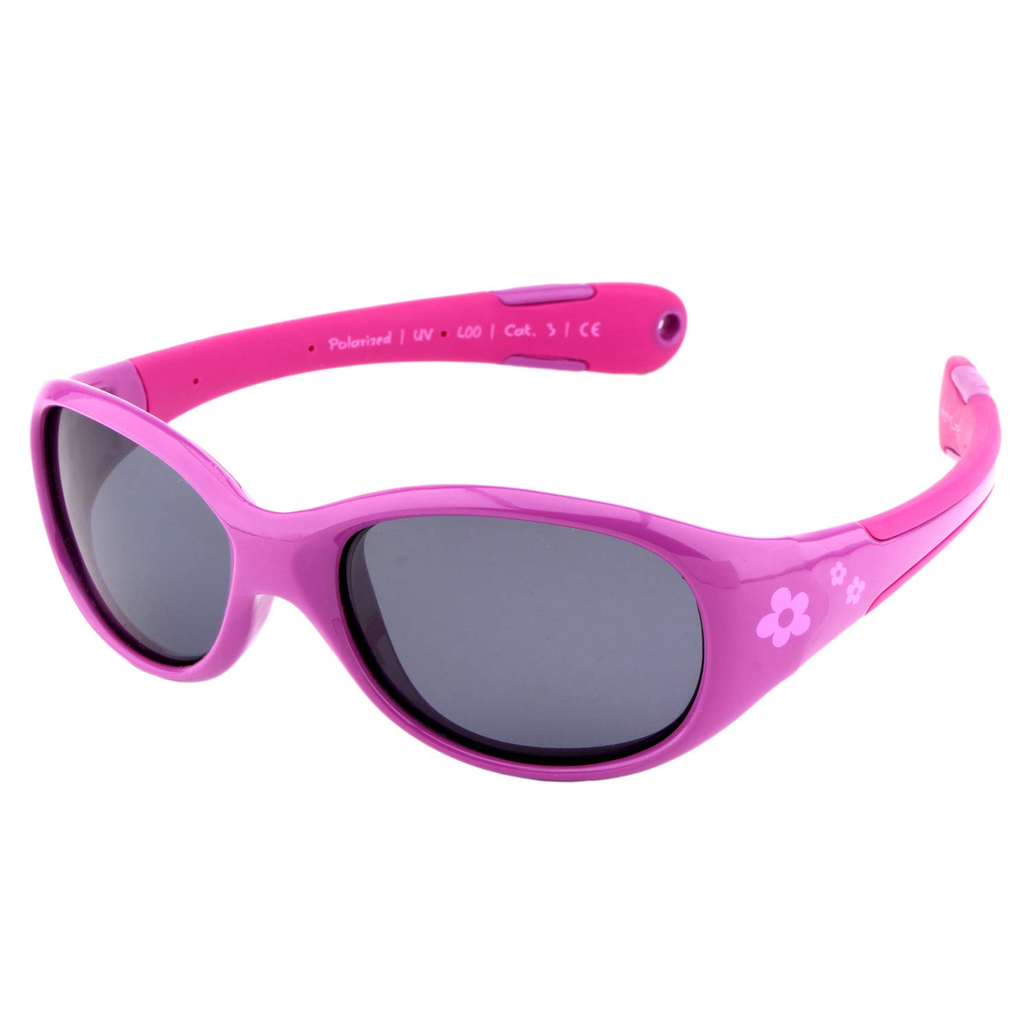 Active Sol BABY Sunglasses | GIRLS | 100% UV 400 protection | polarised | indestructible (made of flexible rubber) | 0-2 years | 18 grams 40.03_Baby-Mädchen