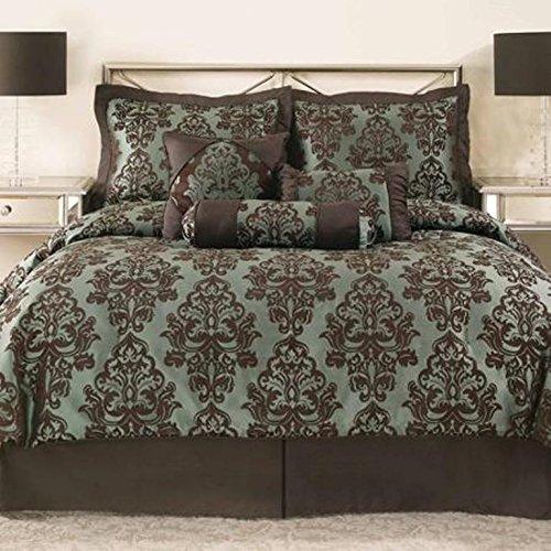 Mainstays Dalton 7-Piece Bedding Comforter Set - FULL/QUEEN