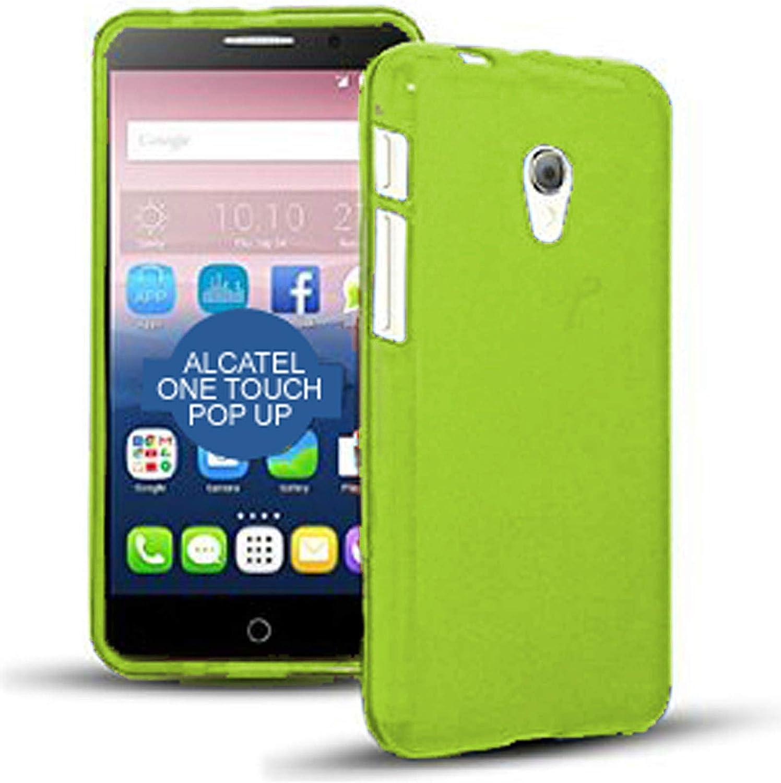 TBOC® Funda de Gel TPU Verde para Alcatel One Touch Pop Up de Silicona Ultrafina y Flexible: Amazon.es: Electrónica