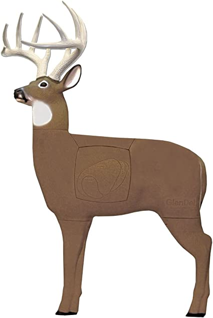 GlenDel Full-Rut Buck 3D Archery Target with Replaceable Insert Core