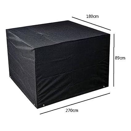deylaying negro muebles de jardín cubierta impermeable Protector ...