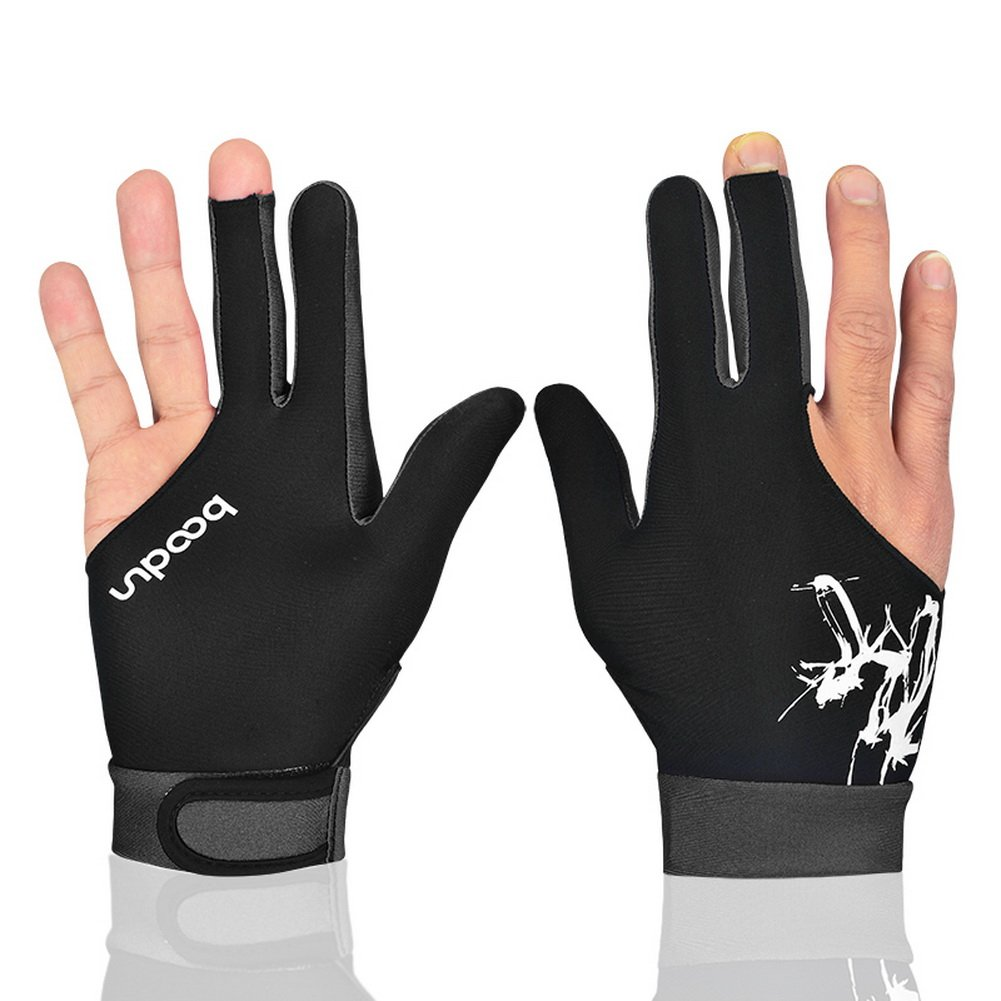 Woman Elastic Lycra 3 Fingers Show Gloves