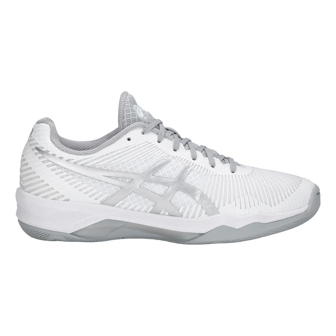 ASICS Women's Volley Elite FF Volleyball Shoe B07895P8L7 11 M US|White/Silver