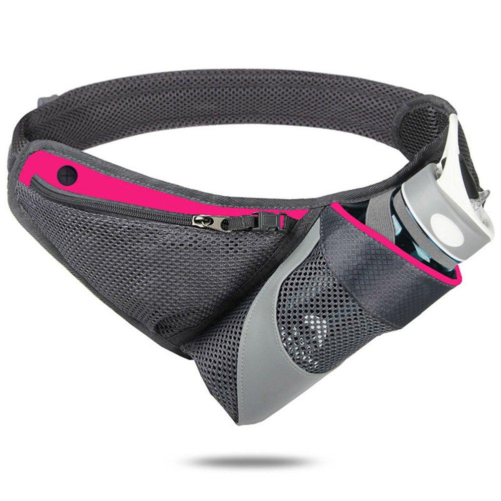 a.bクルーHydration Running Beltスポーツフィットネスワークアウトウエストパックwithホルダーハイキング、ウォーキング、ジョギング B01N5OVO4C ローズレッド