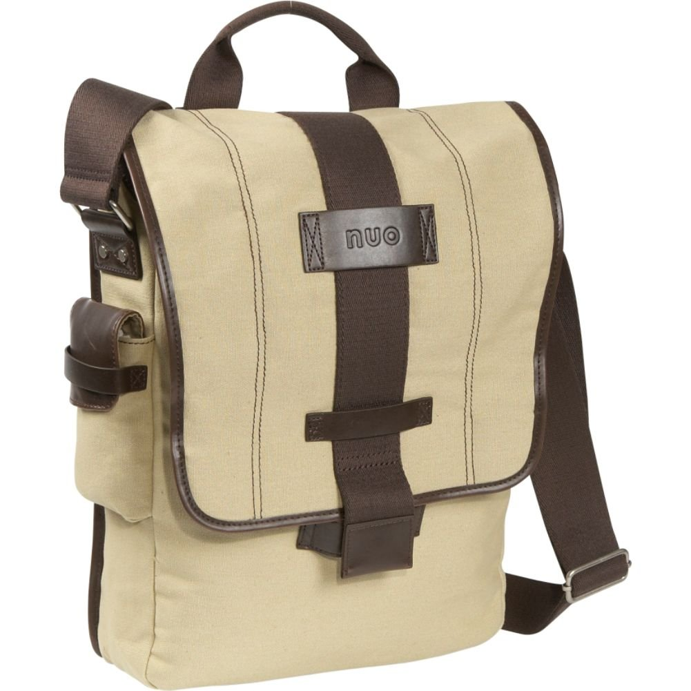 Nuo Tech垂直キャンバスメッセンジャーbag-color :カーキ   B003E50U7Q