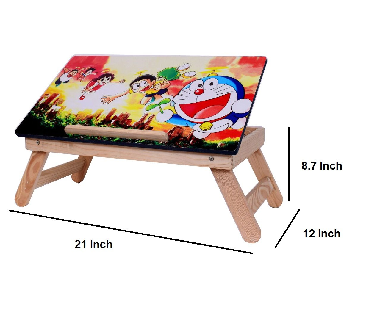 Buy Cadeau Printed Wooden Table/Kids Table/Laptop Table/Laptop Bed