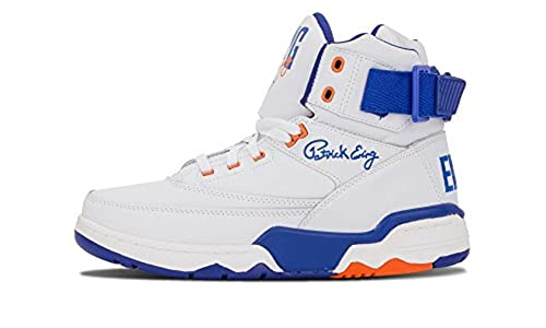 hot sale online 56de1 a7e07 Image Unavailable. Image not available for. Colour  Patrick Ewing Athletics  33 HI White Royal Orange OG PE ...