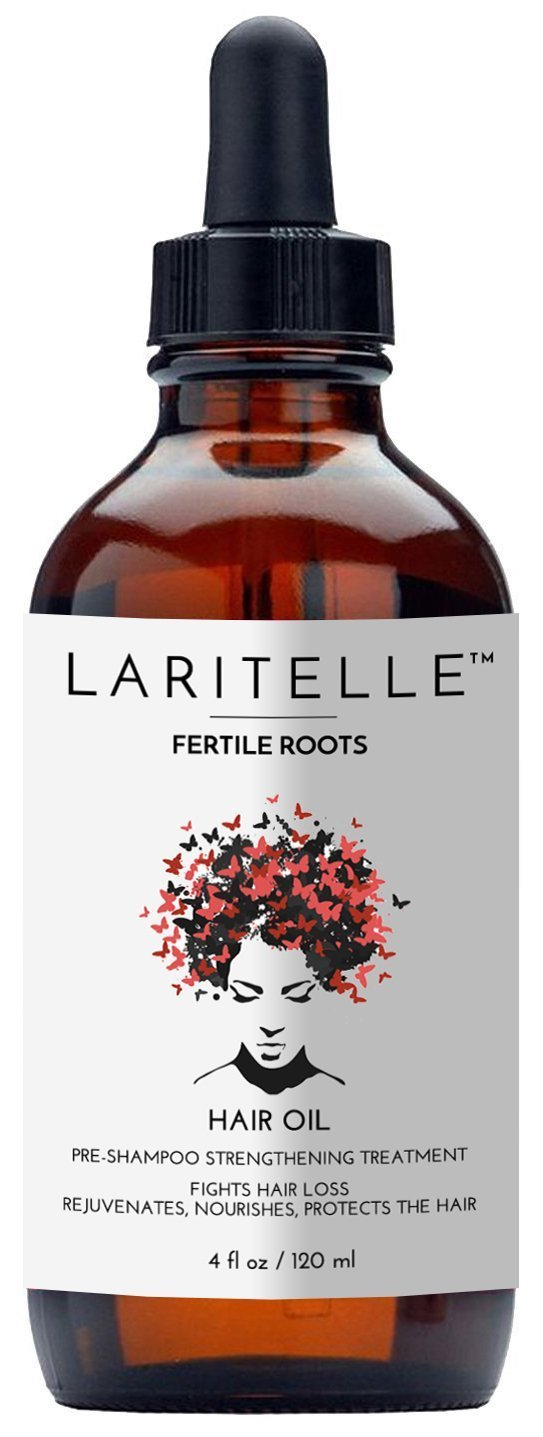 Laritelle Organic Hair Loss Treatment for Men & Women 4 oz | Fortifying, Strengthening & Rejuvenating Follicle Fuel | Stops Hair Shedding, Promotes New Hair Growth | GMO-free. Vegan HO1