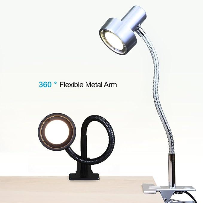Amazon.com: OBright - Lámpara LED de escritorio con pinza ...