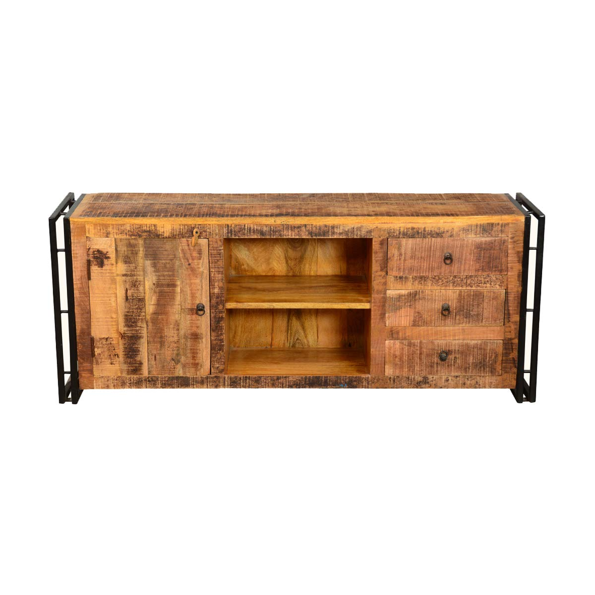 Rustic Solid Reclaimed Wooden Modern Antique Handmade Tv Unit by Antique Rustic