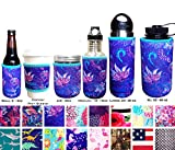 Koverz XL Neoprene 32-40 oz Water Bottle Insulator Cooler Coolie - XL Violet Whimsy