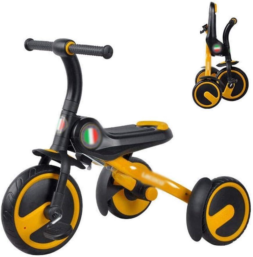 ZQY Bicicletas 1-5 años de los niños al Aire Libre Triciclo Moda excursión de niños Viejos Chico y Chica Triciclo Plegable Mejor Regalo (Color : B)