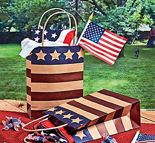 Americana Kraft Bags (1 Dozen) (Usa Gift Shop)