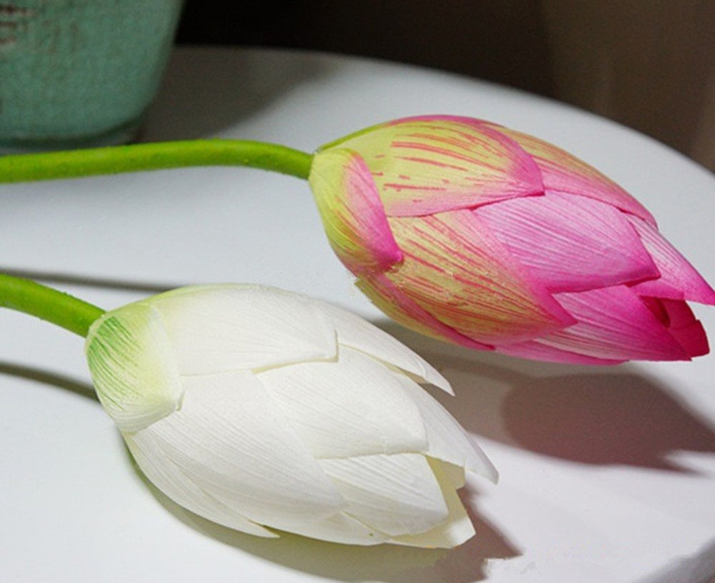 Skyseen-Artificial-Lotus-Bud-Fake-Water-Lily-FlowersSet-of-2
