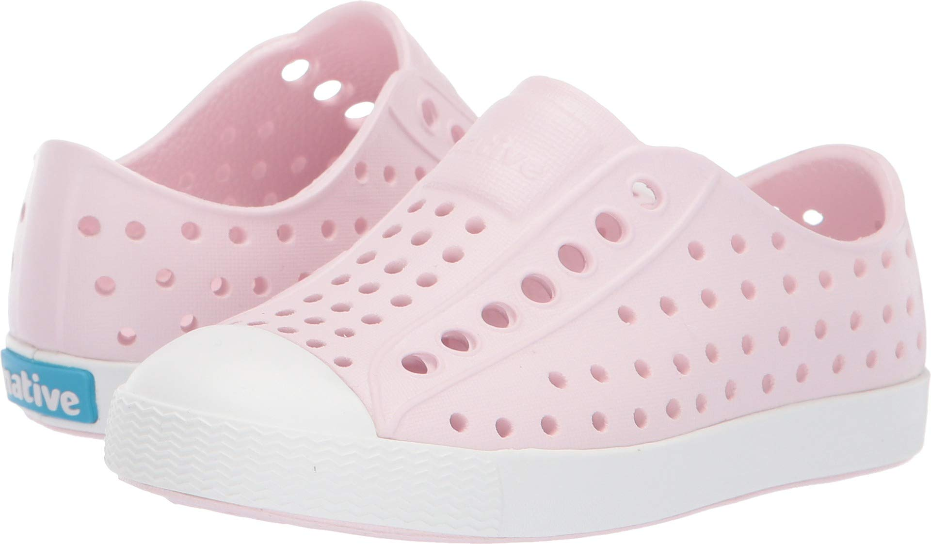 Native Shoes Girls' Jefferson Child Sneaker Milk Pink/Shell White 4 M US Toddler