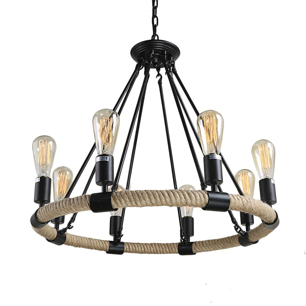 Lnc rope rustic chandeliers 8 light pendant lighting chandelier lnc rope rustic chandeliers 8 light pendant lighting chandelier lighting amazon arubaitofo Image collections