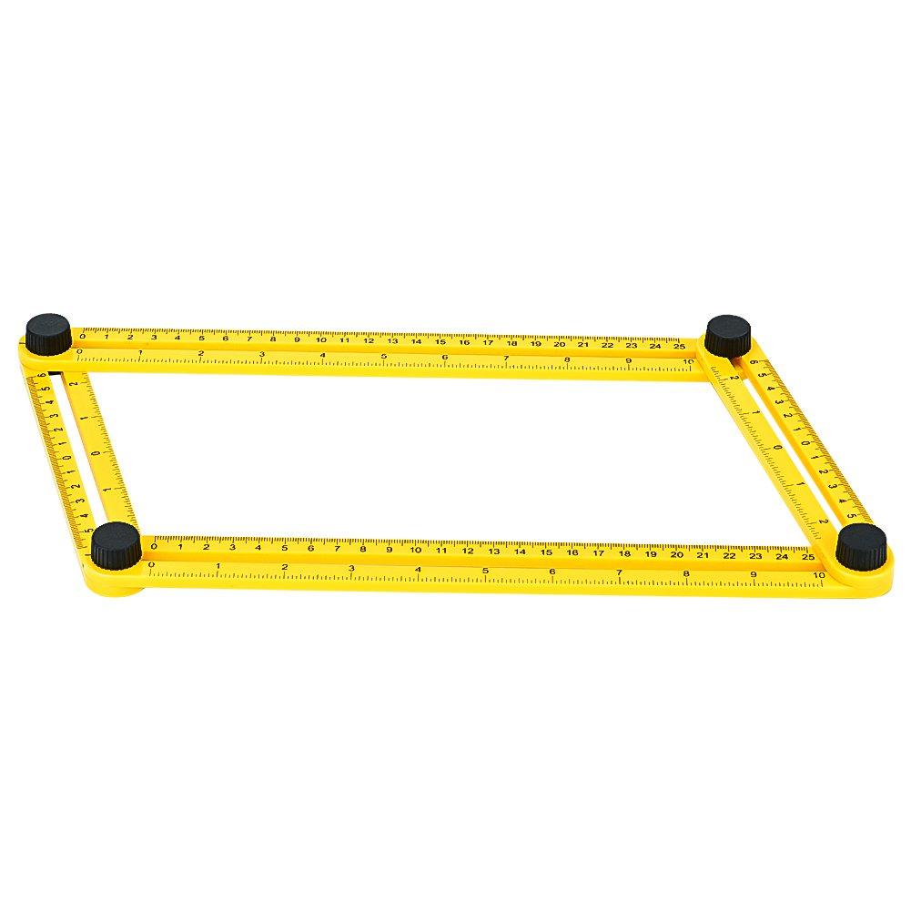 GYMAN Multi-Angle Measuring Ruler Angle Izer Template Tool for Handyman Builders Craftsman DIY-ER
