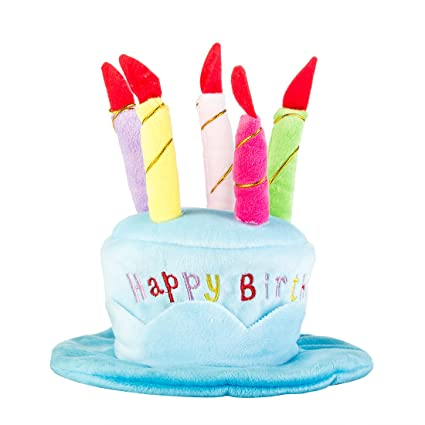 BBZone Adorable Dog Cat Pet Happy Birthday Party Hat With Cake Candles Design For Cats