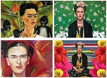 4 Placemats plastic Frida Kahlo