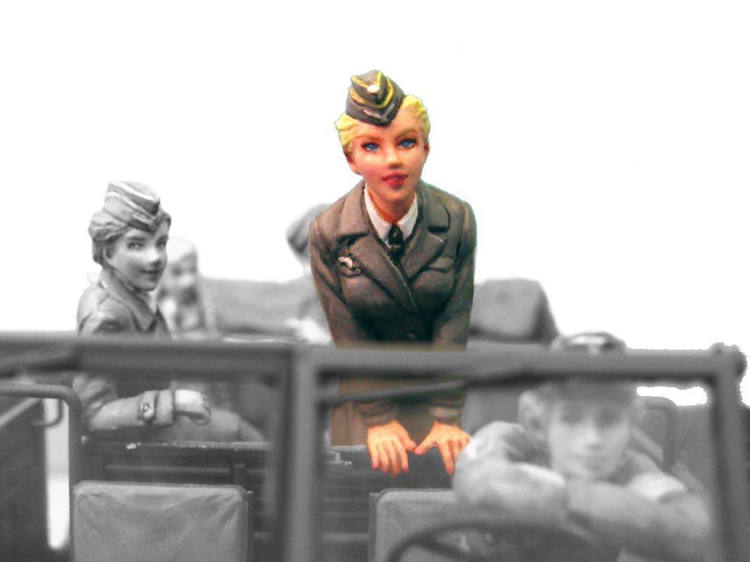 1/35 WWII German military communication auxiliary nurses ver.5 military figure ML17 garage kit (japan import)