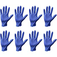 Artibetter 40Pcs Nitrile Disposable Gloves Medical Exam Gloves Ambidextrous Hand Cleaning Gloves Size L