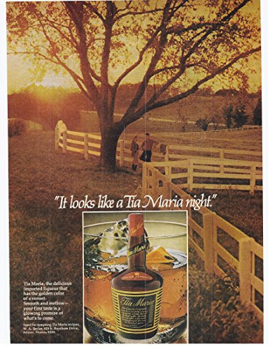 1982 Vintage Magazine Advertisement Tia Maria Coffee Liqueur