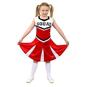 I Love Fancy Dress ILFD7098S Childrenu0027s Cheerleader Fancy Dress Costume with SQUAD Print and Pleated Skirt  sc 1 st  Amazon UK & I Love Fancy Dress ILFD7098S Childrenu0027s Cheerleader Fancy Dress ...