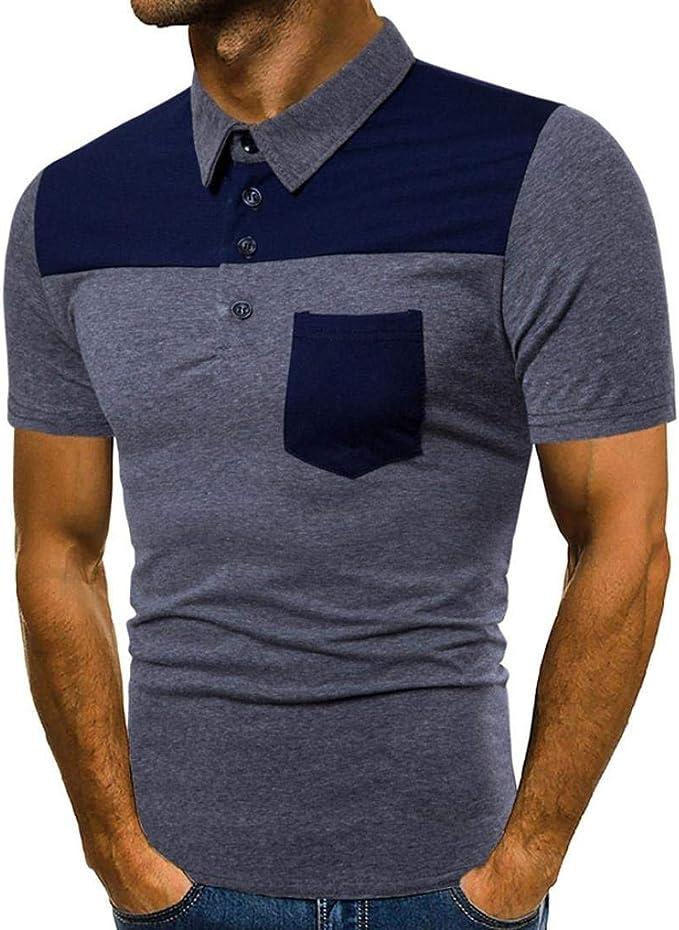 Polo De Color para Hombre Daily Tees Shirt Camisa De Ocio ...