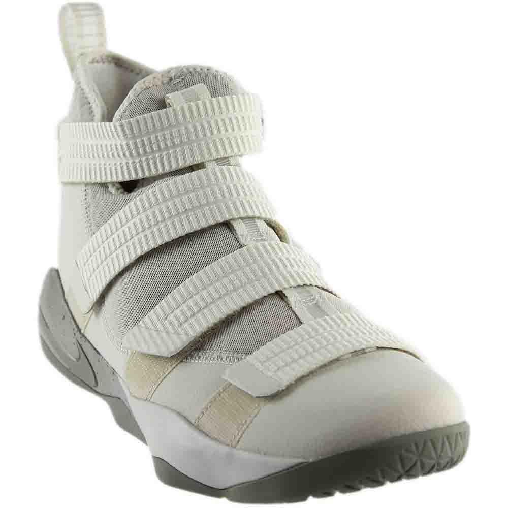 NIKE Men's Lebron Soldier Xi SFG Basketball Shoe Light Bone/Dark Stucco-Black 10