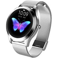 KingWear KW10 Fitness Tracker Smartwatch For Women with Physiological Reminder Heart Rate Monitor Pedometer - Silver