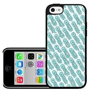 Light Blue Squid Pattern Hard Snap on Phone Case (iPhone 5c)
