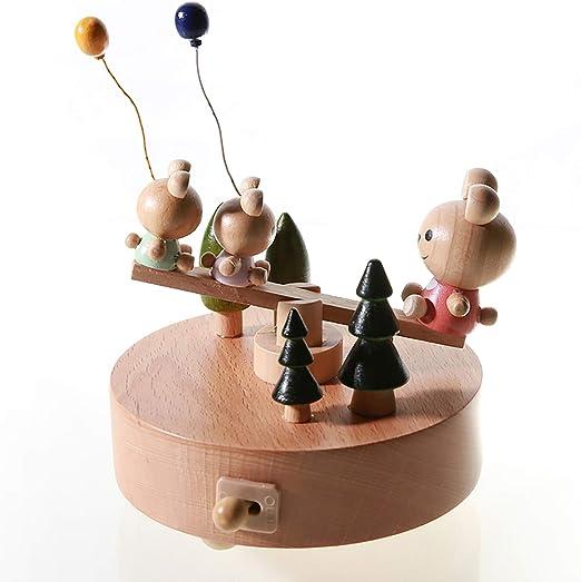 BHQF Caja de música - balancín Mini Caja de música Mecanismo de ...