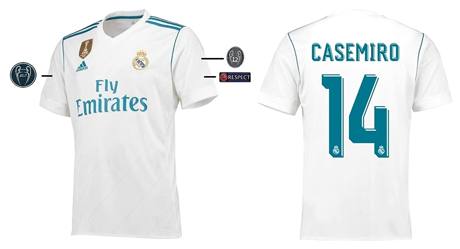 Trikot Kinder Real Madrid 2017-2018 Home UCL - Casemiro 14