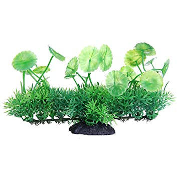 Aikesi Plantas Artificiales Acuario y Pecera,Planta Artificial simuladas Verde,Plastico,Hermosa Decoracion: Amazon.es: Hogar