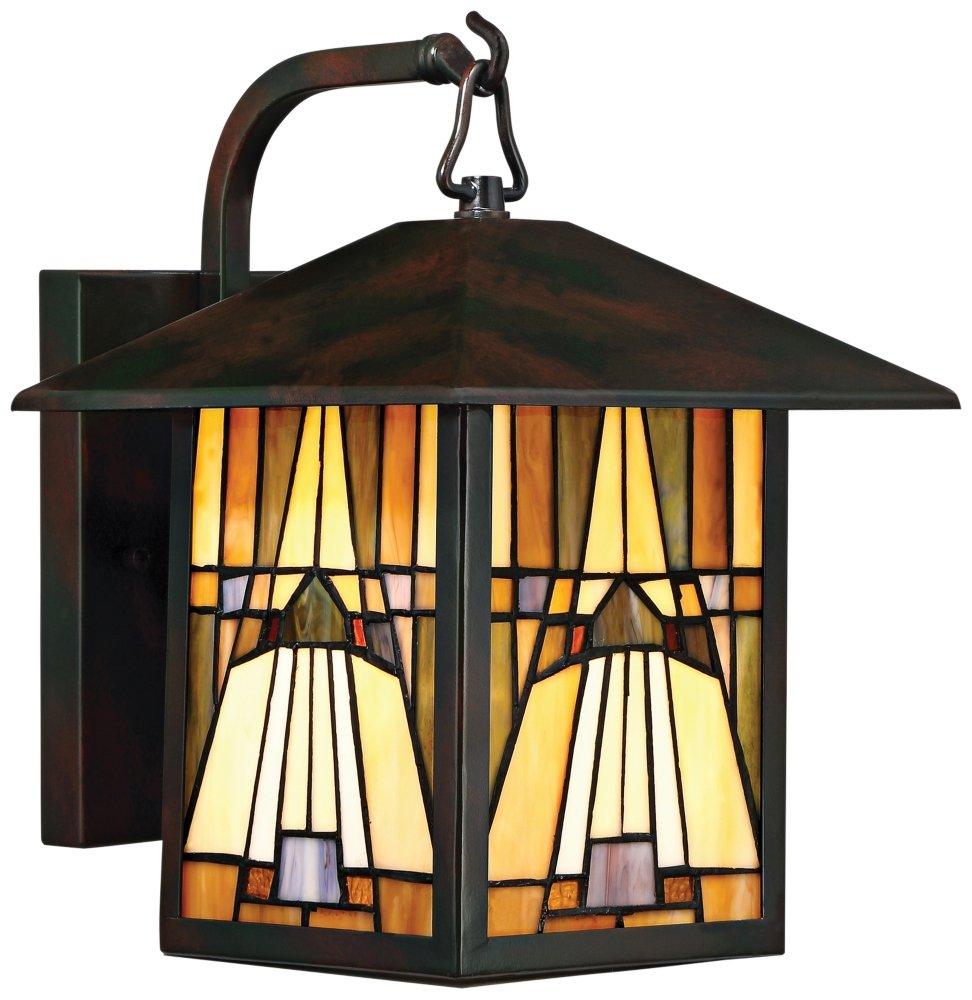 Quoizel One Light Outdoor Wall Lantern TFIK8409VA, Medium, Valiant Bronze