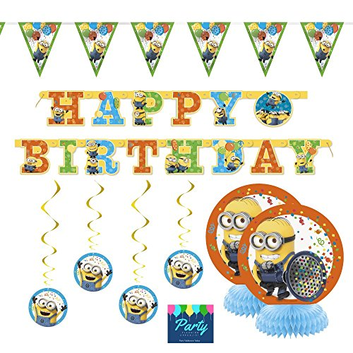 Despicable Me Birthday Party Supplies (Despicable Me 3 Minion Party Supplies Decorations Kit)