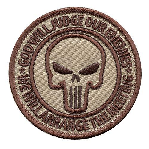 (LEGEEON God Will Judge Our Enemies Desert DCU AOR1 US Navy Seals DEVGRU JSOC Morale Hook-and-Loop)