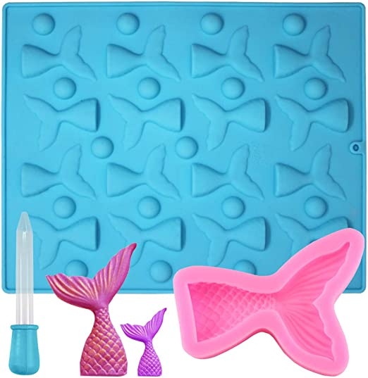 16 Cavities Mermaid Tails Silicone Mold Chocolate Candy Molds Cake BakingSupply
