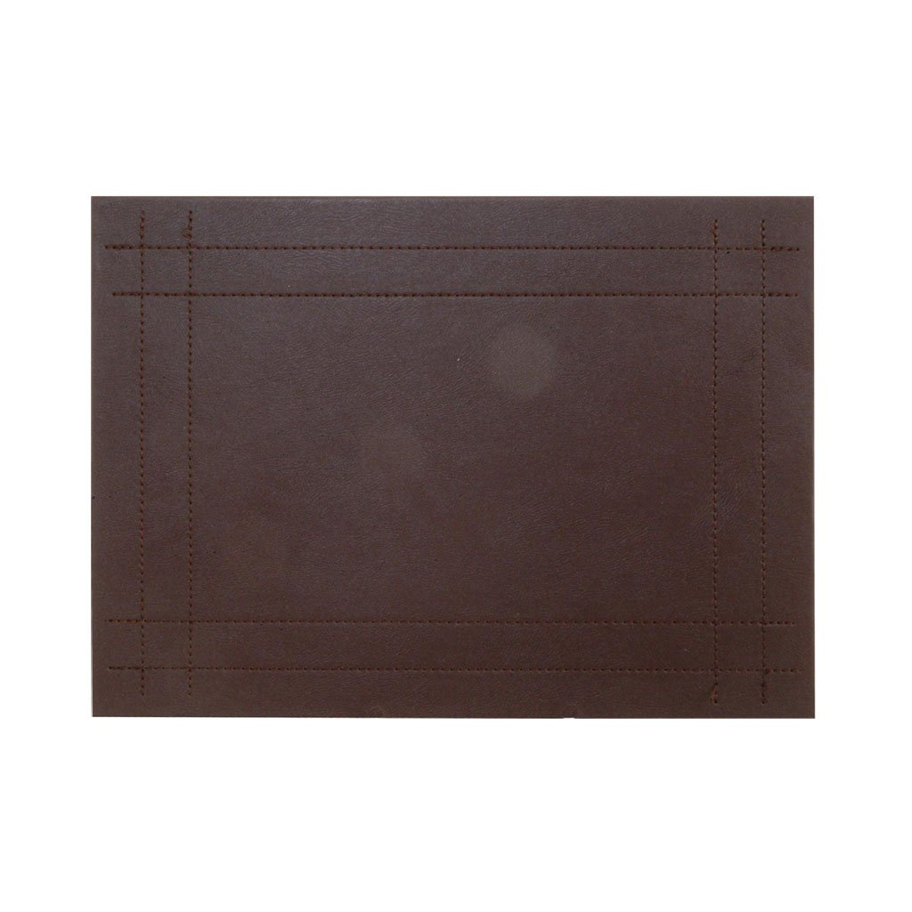 Superbe Rayware Faux Leather Stitch 4 Placemats, Brown
