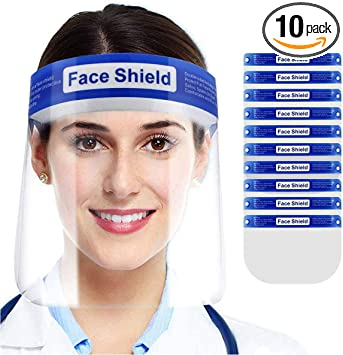 Luxury Clear Face Shield Protection Reusable Mask Cover Plastic Frame Glasses