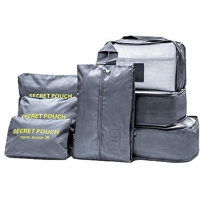 998bd0a1c 7 Set de Organizador de Equipaje Packing Cube, Organizador maleta,  Organizador de equipaje,